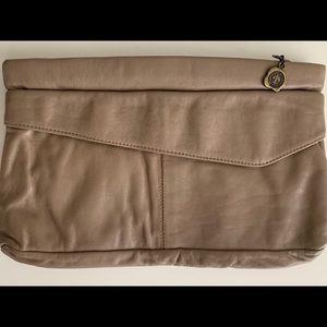 VINTAGE LEATHER CLUTCH BAG